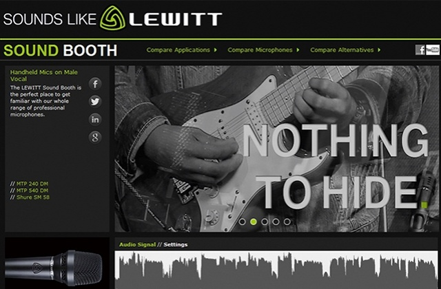 LEWITT Sound Booth - NOTHING TO HIDE