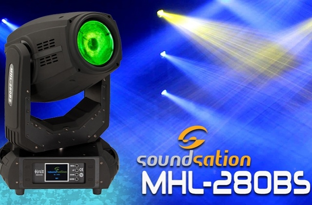 Soundsation MHL-280-BS: Testa Mobile Beam-Spot-Wash 3in1