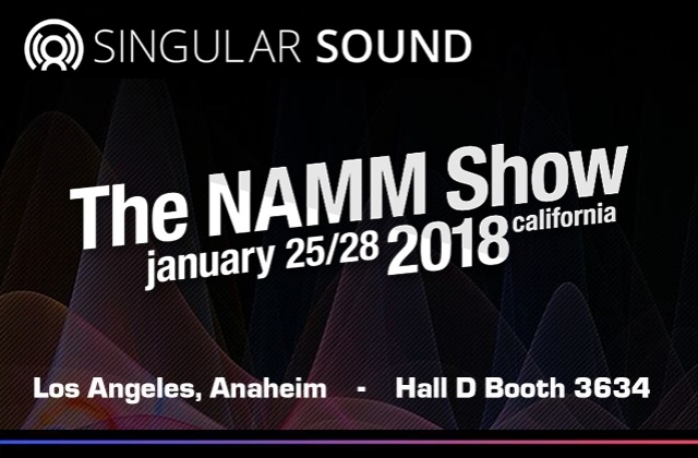 SINGULAR SOUND: a new product in NAMM SHOW 2018!