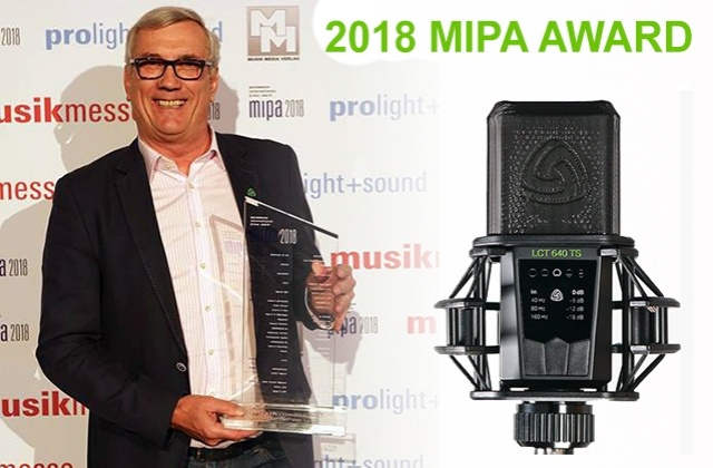 LCT 640 TS wins 2018 MIPA Awards